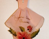 Vintage Souvenir Hanky Dress Niagara Falls Canada