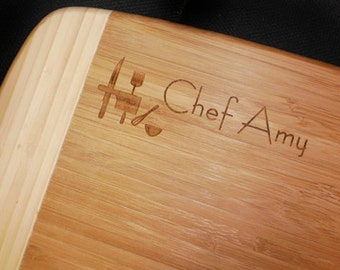 BAMBOO PERSONALIZED Chef Cutting Board - Large