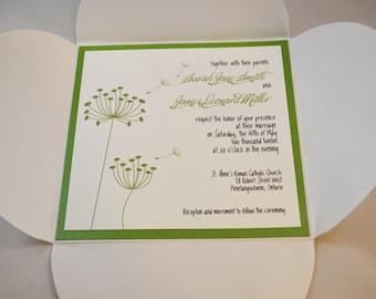 Printable PDF Dandelion Wedding Invitations for the DIY Bride