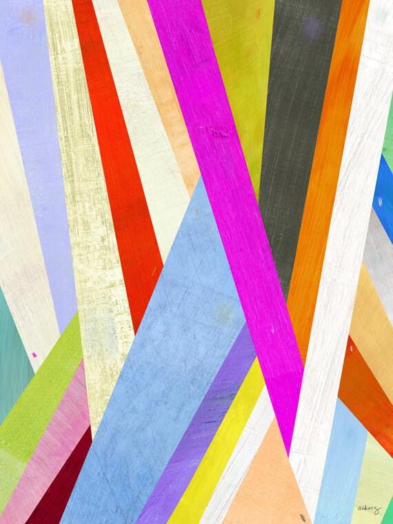 Diagonal Abstract Canvas Print