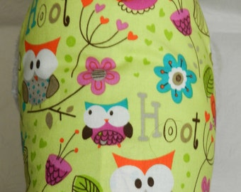 This Pet is a Hoot! Colorful Owl Bird Daisy Flower Hearts Theme Great for Teachers Harness. Perfect Custom Item for your Cat, Dog or Ferret.