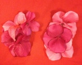 Set of Pink Hydrangea Hair Clips