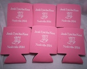 tying the knot Bachelorette party favors Can Coolers Design 12910809 custom and personalized lot of 12 to 25 quick shipping - Stock Art