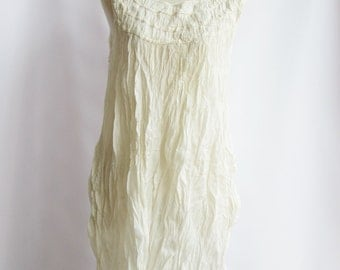 D1, Snow Ruffle, Sleeveless, Cotton, White dress