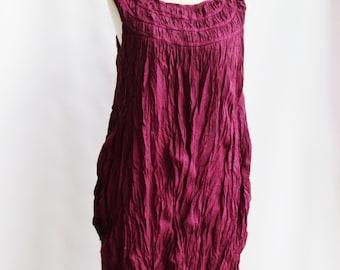 D1, Violet, Ruffle, Sleeveless, Purple Cotton dress