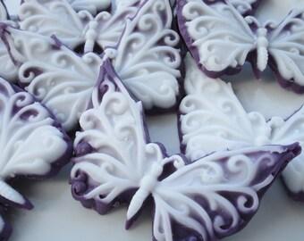 40 Butterfly Soap - baby shower favor, wedding favor, birthday favor, purple butterfly soap