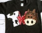 barnyard birthday shirt, two, horse, 2nd,  t shirt, barn yard, farm theme, boy