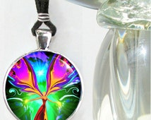 "Reiki Energy Healing Chakra Pendant Necklace ""Angel of the Violet Flame"""