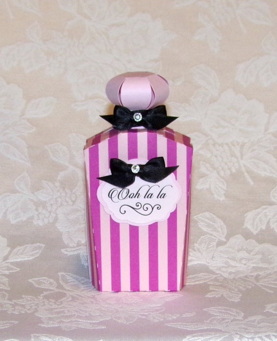 Pink Ooh La La Perfume Bottle Gift Card Holder By Apreciousmemory