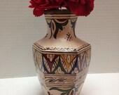 Vintage Moroccan FES Vase Art Pottery Handpainted