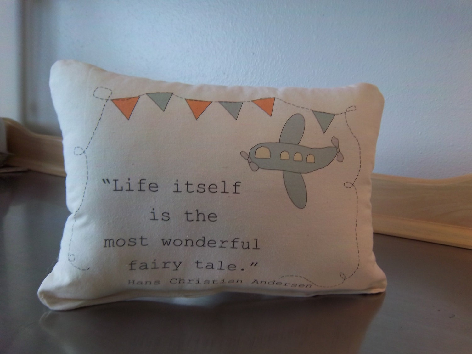 Baby Gifts For Gender Neutral : Fairytale quote nursery pillow gender neutral baby gift