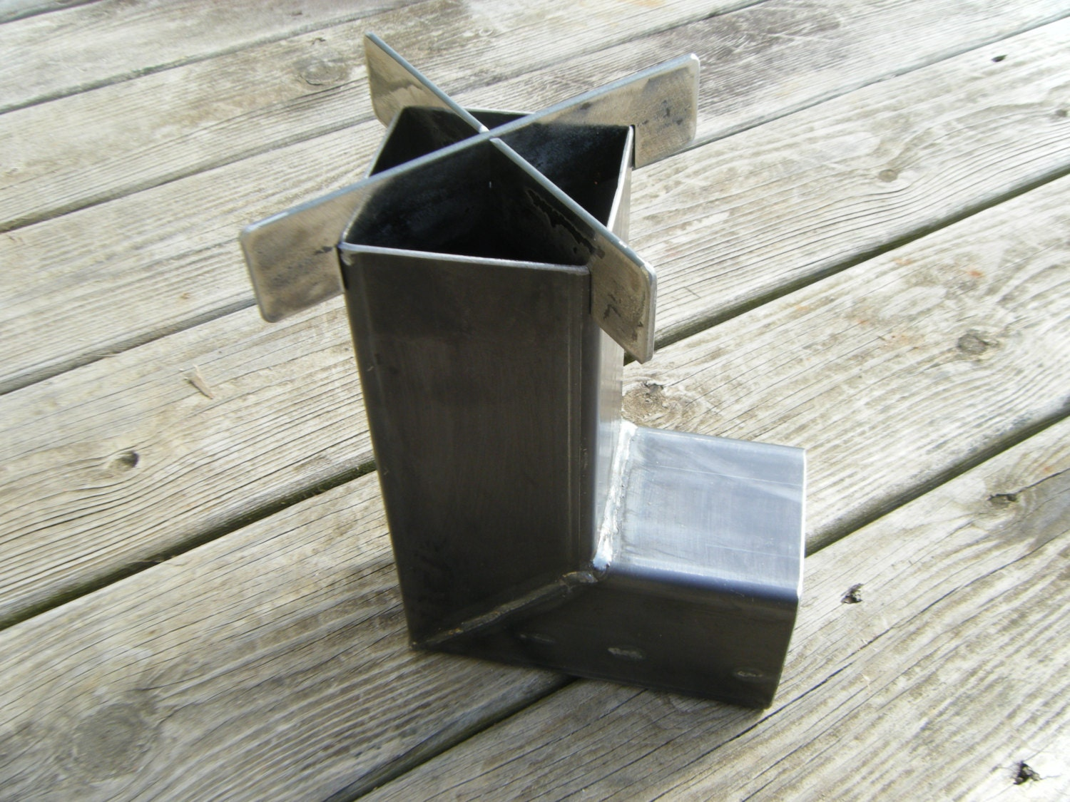 Wood Burning Rocket Stove For Camping Hunting Prepper Compact