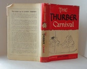 1945 The THURBER CARNIVAL by James Thurber Illustrated Hardcover Wartime Edition Dust Jacket Short Story Collection Fiction Humor dustjacket