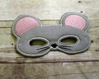 Felt Mouse Mask, Animal Mask, Kids Mask, Felt Mask, Pretend Play, Child Mask