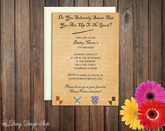 Birthday Party Invitations - Harry Potter Inspired - Marauder's Map - Set of 20 with Envelopes
