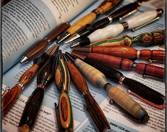 Custom Hand Turned Wooden Pens - MADE TO ORDER