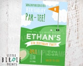 GOLF Invitation Golf Birthday Party Invitation with or without photo Golf ball Sports Golf Par-tee Miniture golf Hole in one Printable file