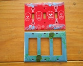 Double switch plate covers Hand painted