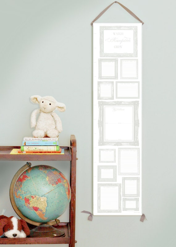 Personalized Heirloom Canvas Growth Chart - Great Memory Keeper