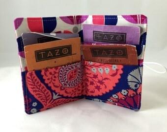 Tea Wallet - Tea Bag Wallet - Tea Bag Case Tea Bag Holder - Tea Holder Tea Bag Cozy - Tea Bag Organizer Joel Dewberry Flora Bazaar in Orchid
