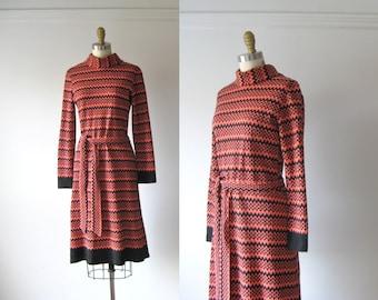 vintage 1960s knit dress / 60s dress / Optic Nerve