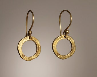 Circle Earrings Hand Made Vermeil Mother's Day