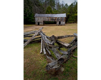 Cable Mill Barn in Cade's Cove in the Great Smoky Mountain National Park in Tennessee No.123 - A Fine Art Appalachian Landscape Photograph
