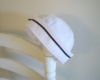 Baby Sailor Hat size 6 to 12 mo. Baby Sailor Cap, Nautical Baby Hat, Baby Photo Prop