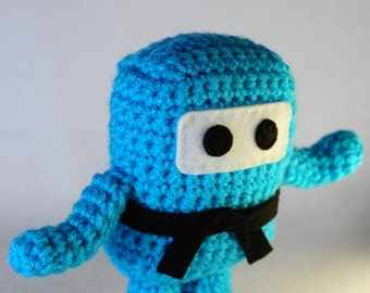 Mini Ninja Plush - Turqua / Turquoise / Aqua / Aquamarine / Light Blue