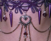 Victorian punk necklace