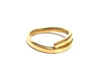 Brass Ring, Women, Men, Mirror, Ring Size 8.5, BLB 3