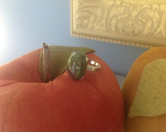 Sterling silver blood stone ring