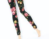 Flower Print Leggings For 12inch Girl Doll