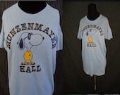 Distressed Kent State University Vintage 1980's Unisex Munsenmayer Hall T-Shirt Shirt XL
