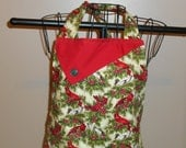 Christmas Cardinals and Holly Women's Apron