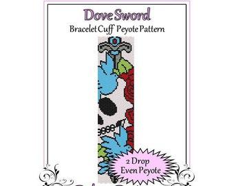 Bead Pattern Peyote(Bracelet Cuff)-Dove Sword