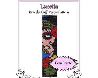Bead Pattern Peyote(Bracelet Cuff)-Lucetta