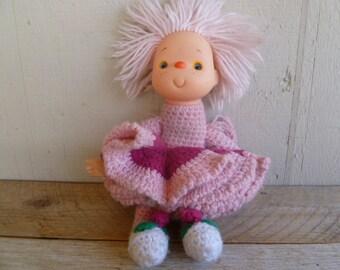 Ice Cream Doll Handmade Crochet Body Vintage