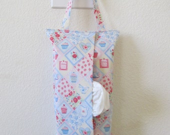 Hanging Tissue Box Cover For Skinny Kleenex/Sweets