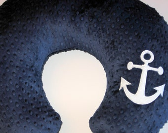 Boppy Cover, Bobby Pillow Cover, Boppy Slipcover, Anchor Boppy, Nautical, Minky Boppy, Baby Girl, Baby Boy, Baby Gift, Custom Baby Bedding,