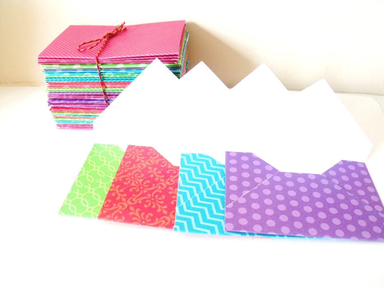 mini envelopes gift card size handmade from designer cardstock