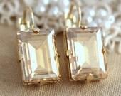Champagne earrings,Bridal Topaz Crystal Earrings,Champagne Drop earrings,Wedding jewelry,Gift for her,Champagne Earrings,Topaz Earrings