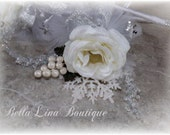 SALE Winter Wedding - Wedding Wand- Winter White Wedding Wand - Flowergirl Wand - ready to ship - One Wedding Wand - Three Available