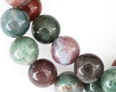 Fancy Jasper Beads - 10mm Round - Half Strand