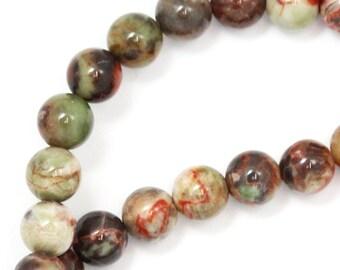 Mushroom Jasper Beads - 6mm Round - Limited Quantity