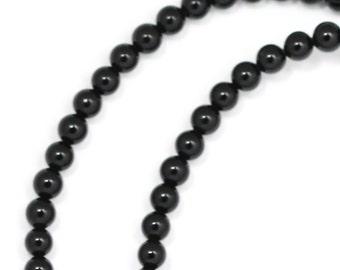 Black Onyx Beads - 3mm Smooth Round