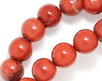 Red Jasper Beads - 8mm Round