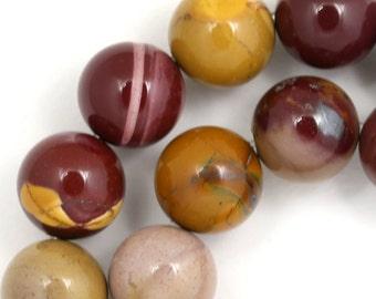 Mookaite Beads - 14mm Round