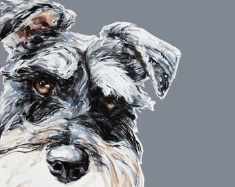 Mini Schnauzer dog painting - Collectable Ltd Ed. dog print