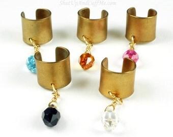 Brass and Swarovski Crystal Custom Ear Cuff